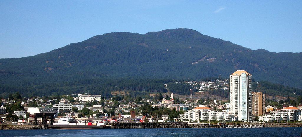 The Nanaimo Skyline; photo by Braveheart via Wikimedia Commosn
